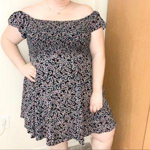 TORRID Off The Shoulder Floral Dress Plus Size 3X